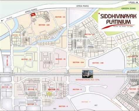 3 Bedroom Floor Plan by Location Map Siddhivinayak Platinum At Ulwe Navi Mumbai