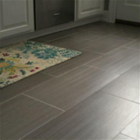 rectangular tile gray modern contemporary flooring rectified edges master bathroom reno