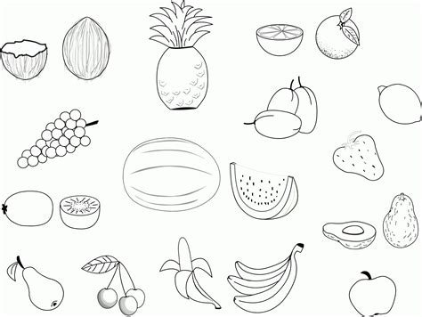 Free Fruit Coloring Pages by Fruit Coloring Pages Free Free Printable Fruit