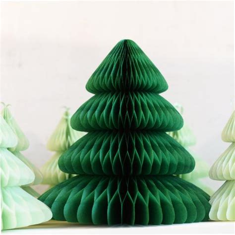 large paper christmas tree 45cm paper tree honeycomb decoration hanging