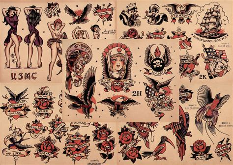 tattoo flash sheets uk sailor jerry traditional tattoo flash 5 sheets 11x14 quot set