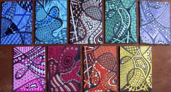 colorful zentangle tri color zentangles these are the results of a new