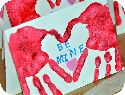 valentines project for be different act normal handprint craft for