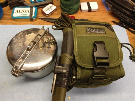 maxpedition m5 and msr stowaway kit cing hiking