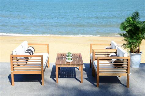 Safavieh Patio Furniture - pat7033c patio sets 4 furniture by safavieh