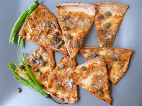 Wedges Pita Burkat Iii plantation eggplant pizza chips with capers
