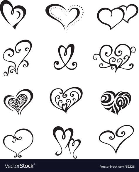 tatoo stock images royalty free hearts set royalty free vector image vectorstock