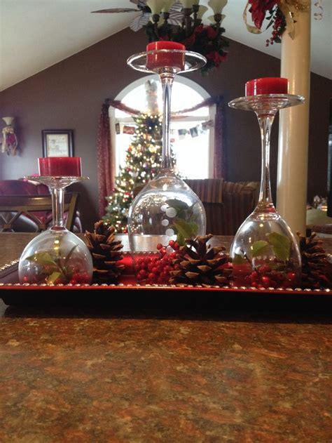 christmas wine glass decor birthday ideas for mom