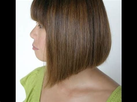 how to cut a bob shaped in a v at the nape how to cut a line bob hairstyle aline bob haircut youtube