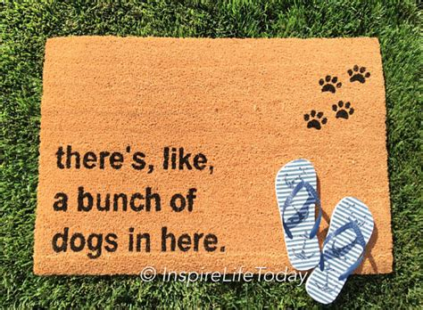 theres like a bunch of dogs in here mat there s like a bunch of dogs in here doormat