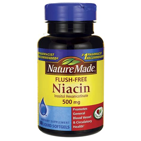 Garden Of Niacin Nature Made Flush Free Niacin 500 Mg 60 Sgels Swanson