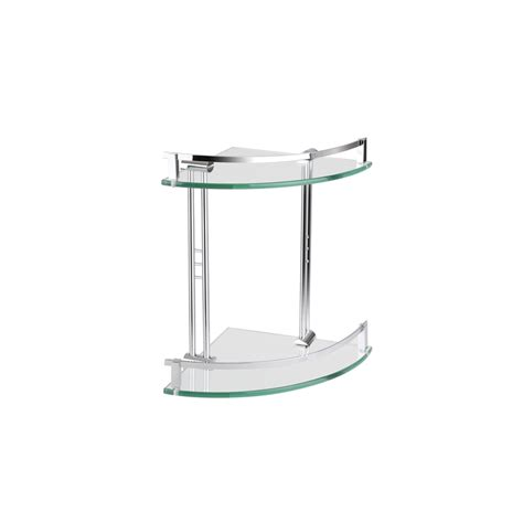 bathroom accessories corner shelf mondella chrome cadenza double glass corner shelf