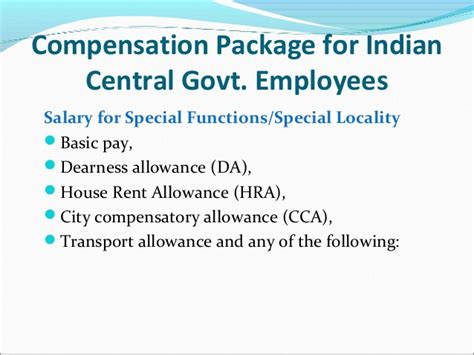 Salary Package For School Mba by Compensation For Indian Central Government Employees
