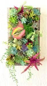 succulent wall planter succulent planter vertical succulent wall by