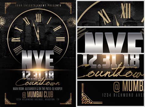 Nye Countdown Flyer Template 2 Flyerheroes Countdown Poster Template