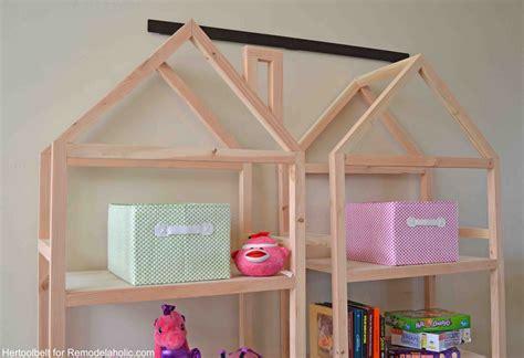 bookshelf bed frame diy remodelaholic diy house frame bookshelf plans