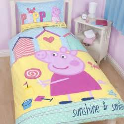 peppa pig bedding bedroom decor duvets wall stickers