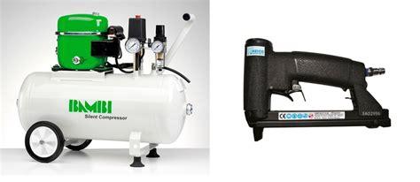upholstery staple gun air compressor bambi 24 ltr standard silent air compressor kit with