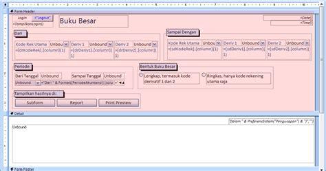 membuat form login di access 2007 access terapan membuat form buku besar