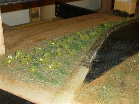 train layout ground cover landscaping comes to my layout model railroad hobbyist