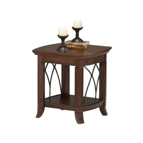 Cherry End Tables Bernards Cathedral End Table In Cherry 8621