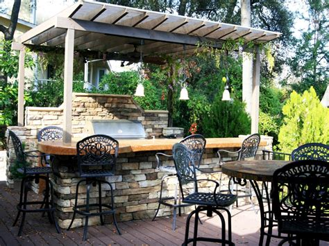 rustic outdoor kitchen ideas cheap outdoor kitchen ideas hgtv