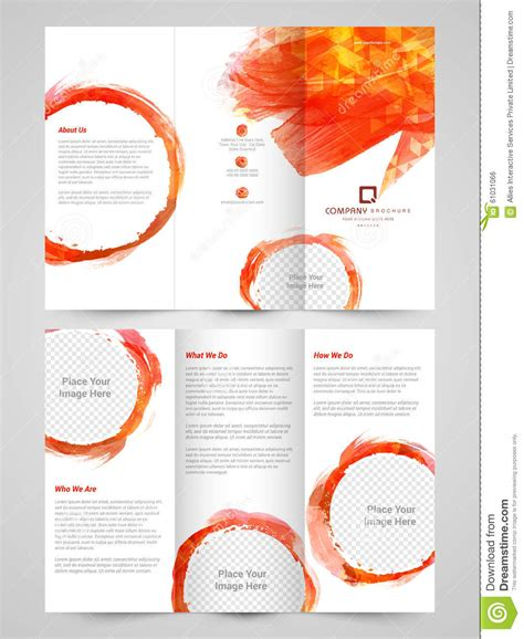 two sided brochure template abstract business trifold brochure template or flyer