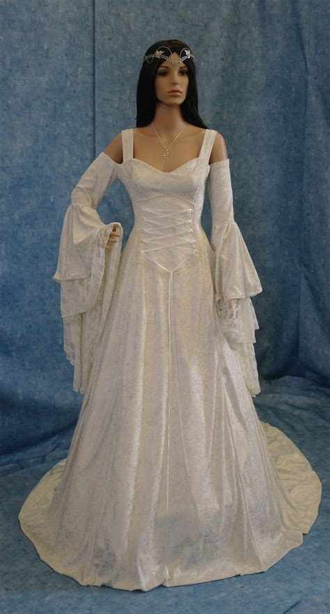 renaissance medieval handfasting wedding dress by