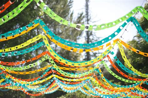 Paper Chain Decorations by Backyard Colorful Paper Chain Wedding Leslie Nolan