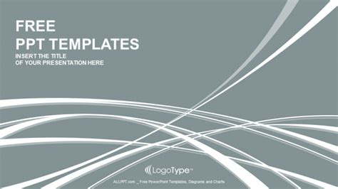 elegant waves abstract powerpoint templates