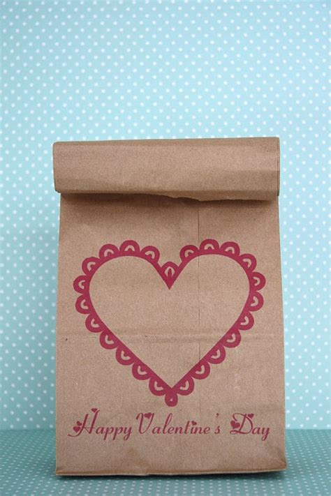 valentines day bags printable valentines skip to my lou
