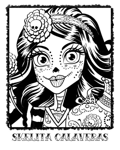 monster high skelita calaveras coloring pages skelita calaveras colouring page coloring page norah s