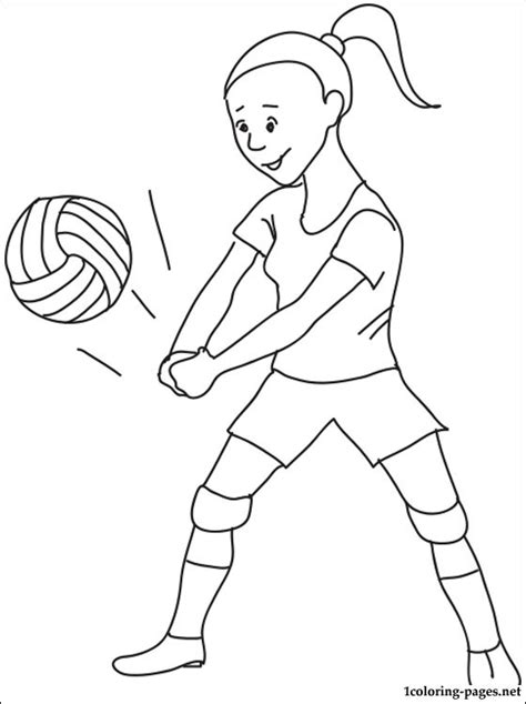 coloring pages volleyball girl volleyball coloring page coloring pages
