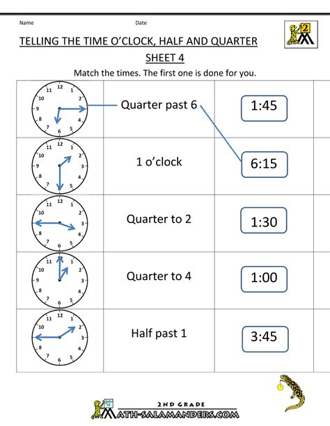 free printable quarter past worksheets tell the time worksheets to print