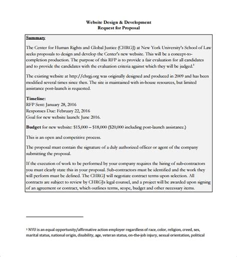website design proposal template word e4dai info e4dai info