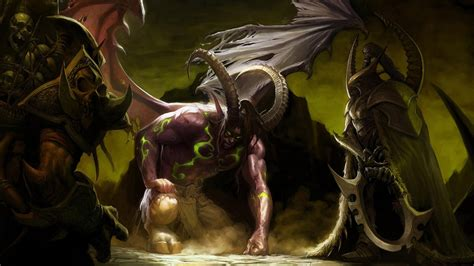 demon world of warcraft illidan stormrage wallpapers hd