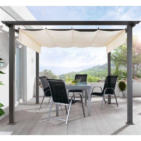 pavillon auf terrasse terrassen pavillon pergola aluminiumgestell polyester dach