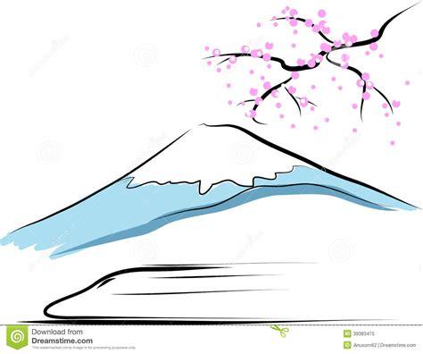 draw vector mount fuji stock vector image 39383475