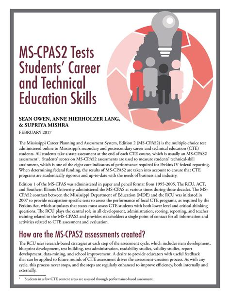 ms cpas2 tests students career and technical education