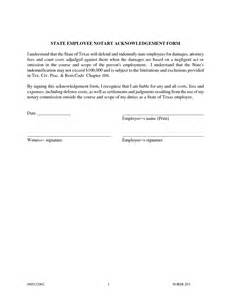 acknowledgement form template best photos of sle of notary acknowledgement form