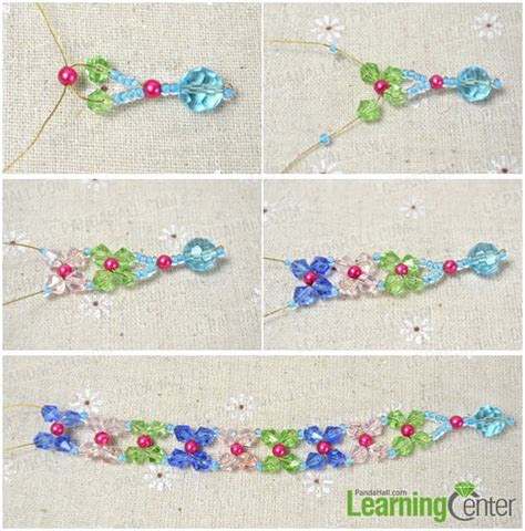 how to make flower bracelets with easy tutorial on beaded flower bracelet for