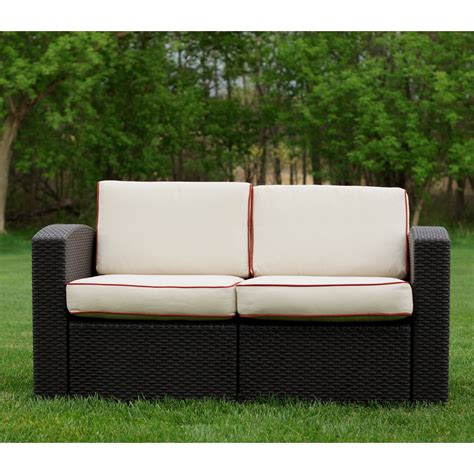 hayneedle outdoor furniture strata furniture cielo patio wicker loveseat outdoor