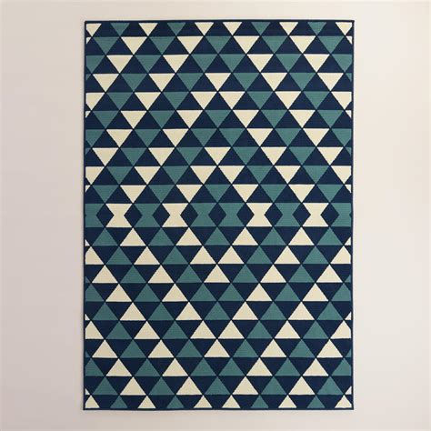 World Market Outdoor Rugs Blue Sapphire Low Profile Indoor Outdoor Area Rug World Market