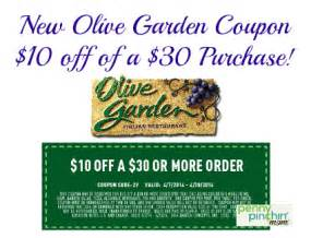 Garden Of Coupons Save 10 A 30 Purchase At Olive Garden