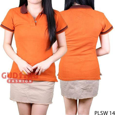 Polo Shirt Polos Kaos Polos Pique Cotton Pique polo shirts wanita polos cotton pique merah bata plsw 14