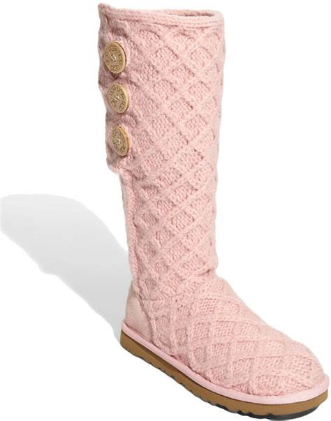 Rosy Cardy ugg lattice cardy boot in pink baby pink lyst