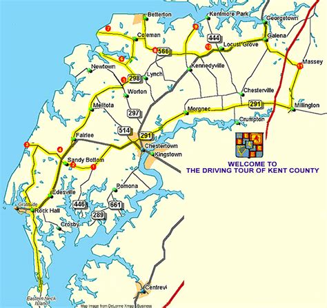 printable map kent self guided driving tours kent county maryland