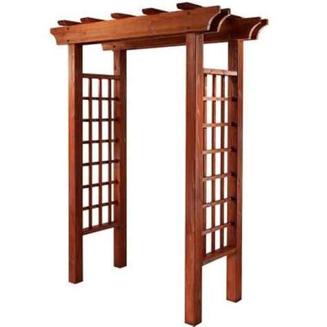 cedar garden arbor kit 201570 the home depot