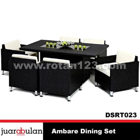 Meja Makan Sintetis harga jual ambare dining set meja makan rotan sintetis