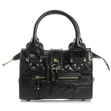 Burberry Quilted Mini Bag by Burberry Quilted Leather Mini Manor Bag Black 56177